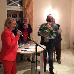 Peggy Schierenbeck, Frank Lemmermann und Unterbezirksvorsitzender Ingo Estermann