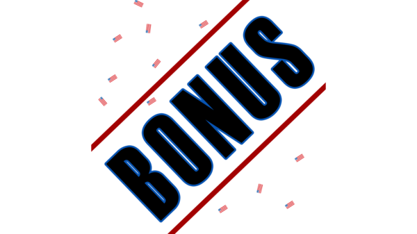 Schriftzug Bonus