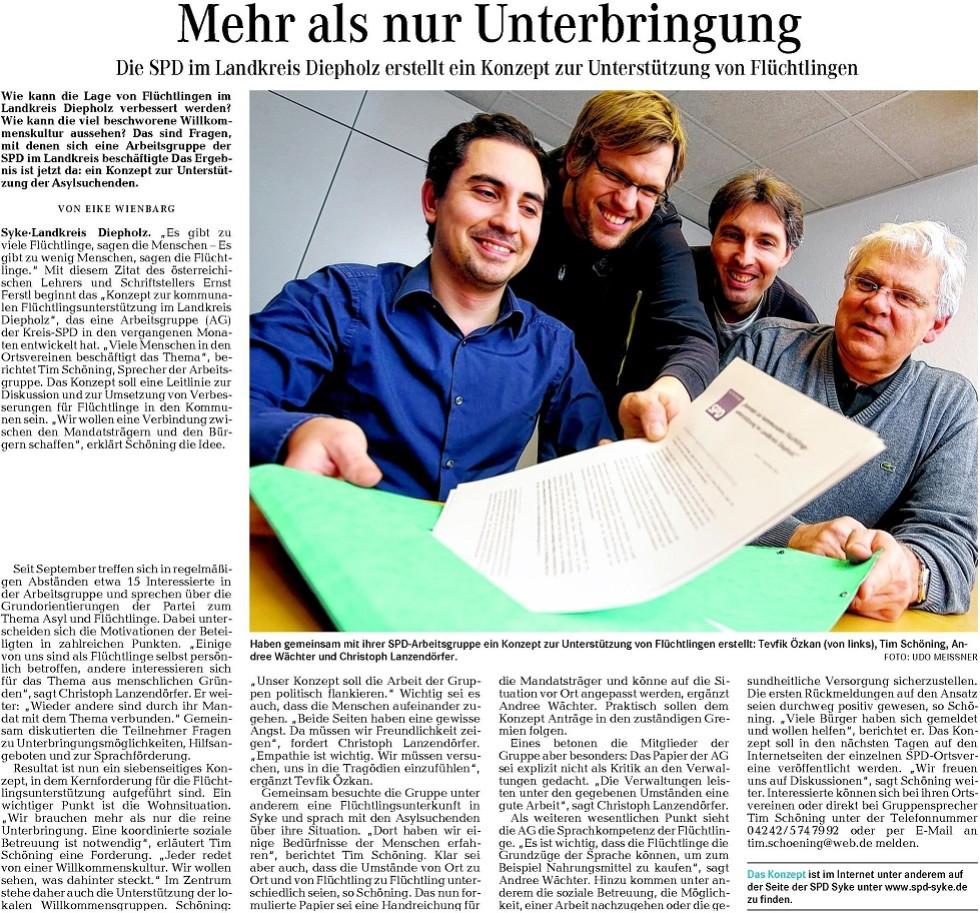 Syker Kurier 19-12-2014 - Mehr Als Nur Unterbringung Von Eike Wienbarg 980x918