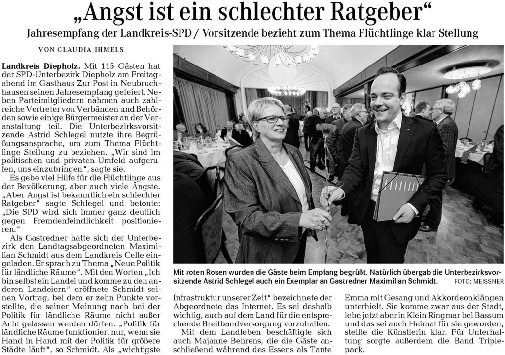 Weser Kurier Spd Jahresempfang 2015