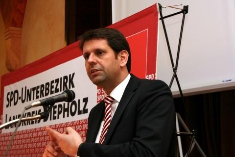 Foto: UB-Parteitag, SPD-Landesvorsitzender Olaf Lies